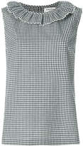 YMC check sleeveless top