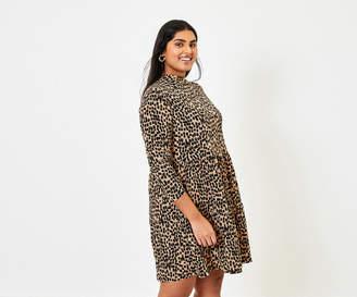 Oasis Curve Brushstroke Dress