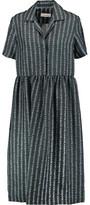Carven Printed Silk-Twill Midi Dress