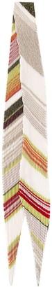 Missoni metallic-thread pleated scarf