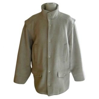 Ted Lapidus Ecru Wool Coat for Women Vintage