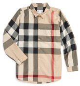 Burberry Boy's 'Mini Camber' Check Long Sleeve Shirt