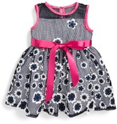 Us Angels Infant Girl's Flower Applique Dress