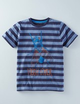Boden Stripy Graphic T-shirt
