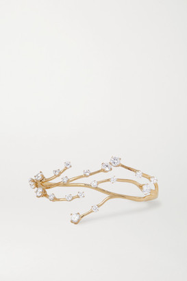 Panconesi Constellation Fire Gold-plated Crystal Hand Cuff
