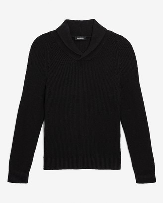 Express Solid Shawl Collar Sweater