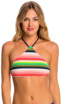Sperry Shaved-Ice Stripe High-Neck Bikini Top - 8142548
