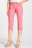 NYDJ &Bella& Colored Straight Leg Stretch Crop Jeans (Petite)