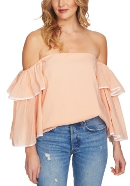1 STATE Ruffle Bell-Sleeve Off-The-Shoulder Top