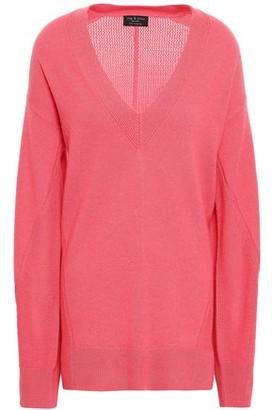 Rag & Bone Sabreena Open Knit-paneled Cashmere Sweater