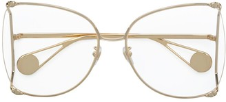 Gucci Oversized Butterfly-Frame Glasses
