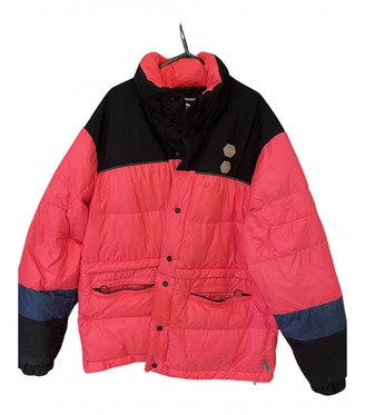 Off-White Pink Polyester Coats