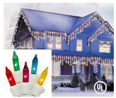 Asstd National Brand Set of 300 Multi-Colored Mini Icicle Christmas Lights 3 Spacing with White Wire