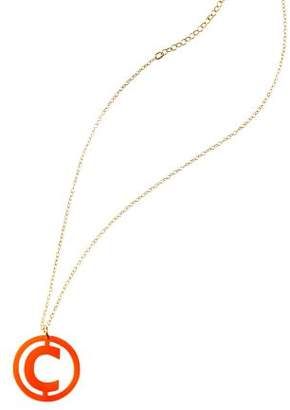 Mark And Graham Acrylic Single Initial Necklace