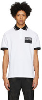 Versace White Institutional Logo Patch Polo