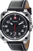 Wenger AeroGraph Cockpit Black Leather Black Dial Men's Watch