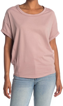 H By Bordeaux Brushed Cotton Dolman Sleeve T-Shirt