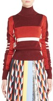 Emilio Pucci Women's Metallic Knit Colorblock Turtleneck Sweater