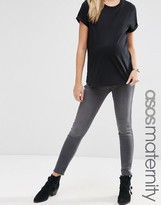 Asos Rivington Jeggings in Ice Gray Wash With Under The Bump Waistband