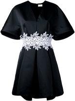 Sara Battaglia embroidered belt dress