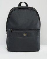 Asos Backpack In Black With Gold Emboss