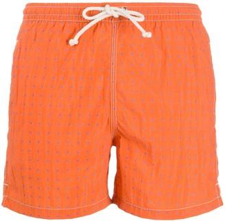 Kiton Polka Dot Print Swim Shorts