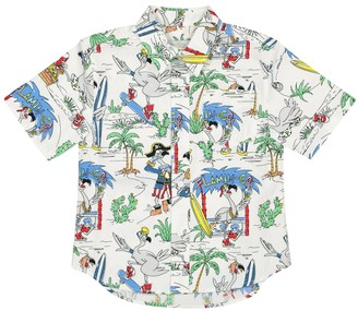 Stella McCartney Kids Printed cotton shirt