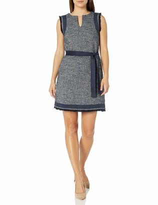 Ellen Tracy Women's Petite Size Split Neck Shift Dress