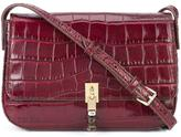 Elizabeth and James crocodile-embossed satchel - women - Acetate - One Size