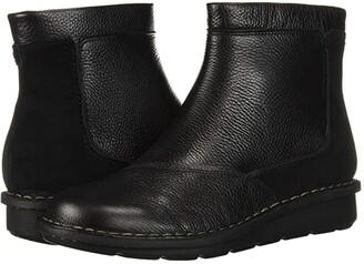 Clarks Michela Petal (Black Leather/Suede Combi) Women's Boots
