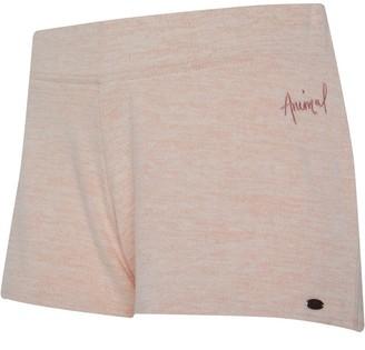 Animal Womens Sweat Shorts Pale Peach