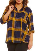 Gibson & Latimer Plus Plaid Tunic