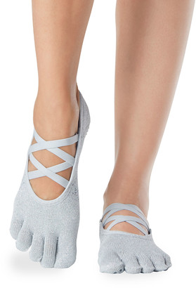 Toesox Elle Crisscross Full-Toe Grip Socks
