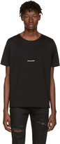 Saint Laurent Black Rive Gauche T-Shirt