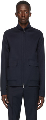Valentino Navy Wool and Cashmere Jacket