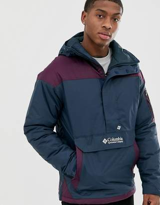 Columbia Challenger pullover jacket in blue/purple-Green
