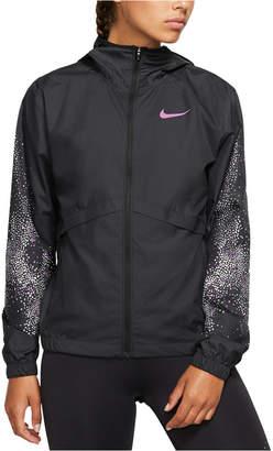 Nike Essential Water-Repellent Hooded Running Jacket