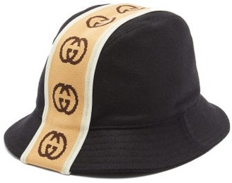 Gucci GG-jacquard Wool-felt Bucket Hat - Mens - Black