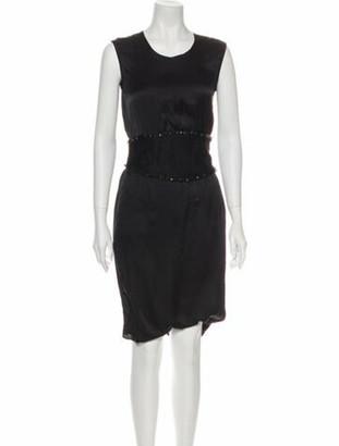 Givenchy Scoop Neck Knee-Length Dress Black