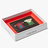 Ps By Paul Smith Cycling Jersey Leather Card Holder, Black