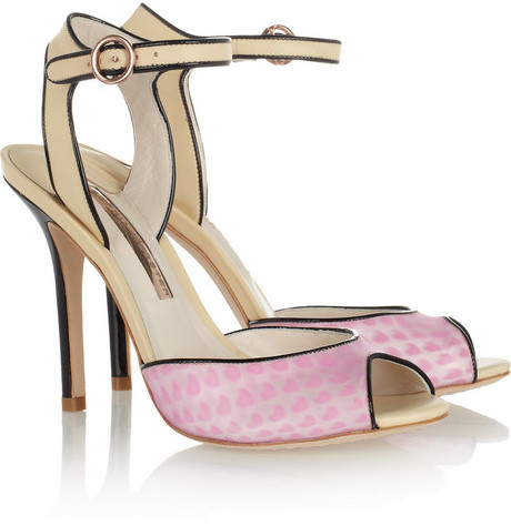 Webster Sophia Lula hologram vinyl and leather sandals