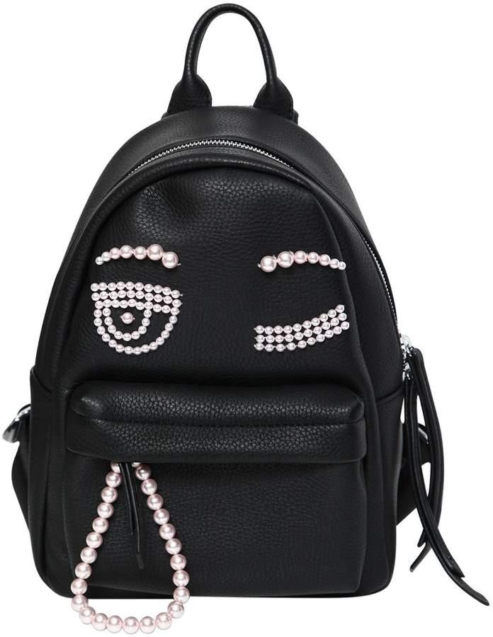 Chiara Ferragni Flirting Eye Faux Leather Backpack