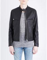 The Kooples Mandarin-collar Leather Jacket