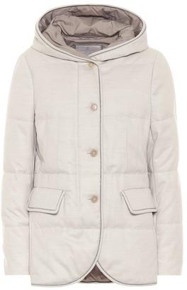 Brunello Cucinelli Virgin wool flannel down jacket