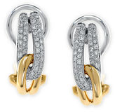 Effy Duo Diamond, 14K White Gold and 14K Yellow Gold Knot Earrings