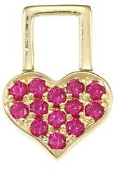 Robinson Pelham EarWish 14K Yellow Gold & Ruby Heart Single Earring Charm