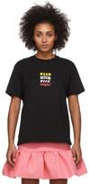 MSGM Black Rainbow All Logos T-Shirt
