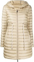 Moncler mid-length hooded down coat