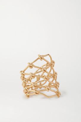 Sebastian Large Net 10-karat Gold Ring - medium