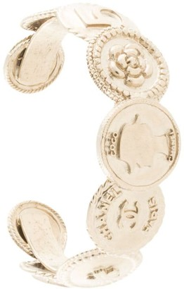 Chanel Pre Owned 2014 Logo Coins Cuff
